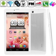 Soulycin S8 Tablet PC 8GB 7.0 inch 3G + Voice function Android 4.1 Dual SIM(Silver) - 1 x English Manual