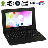 Android 5.1 Notebook PC 8GB 10.1 inch CPU: VIA8880 Quad Core 1.3GHz RAM: 1GB(Black)