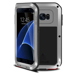 LOVE MEI for Samsung Galaxy S7 Edge / G935 Professional and Powerful Dustproof Shockproof Anti-slip Metal Protective Case(Silver)
