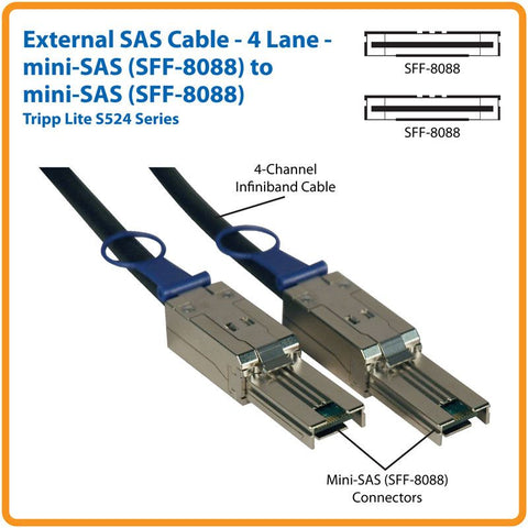 External Mini Sas To Mini Sas Cord 2 M