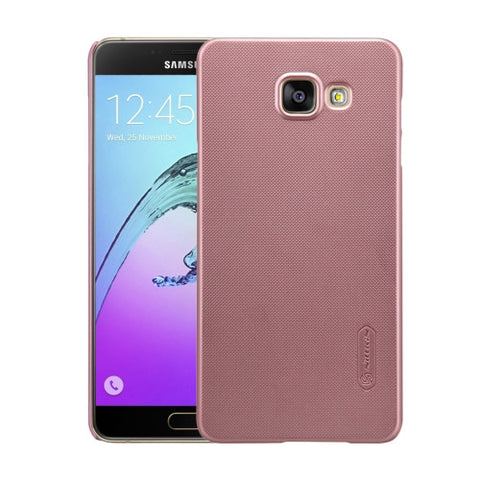 NILLKIN Frosted Shield for Samsung Galaxy A7 / A710 Concave-convex Texture PC Protective Case Back Cover(Rose Gold)
