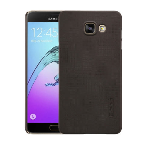 NILLKIN Frosted Shield for Samsung Galaxy A7 / A710 Concave-convex Texture PC Protective Case Back Cover(Brown)