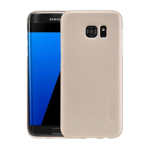 NILLKIN Frosted Shield for Samsung Galaxy S7 Edge / G935 Concave-convex Texture PC Protective Case Back Cover(Gold)