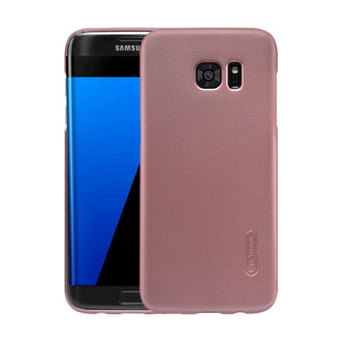 NILLKIN Frosted Shield for Samsung Galaxy S7 Edge / G935 Concave-convex Texture PC Protective Case Back Cover(Rose Gold)