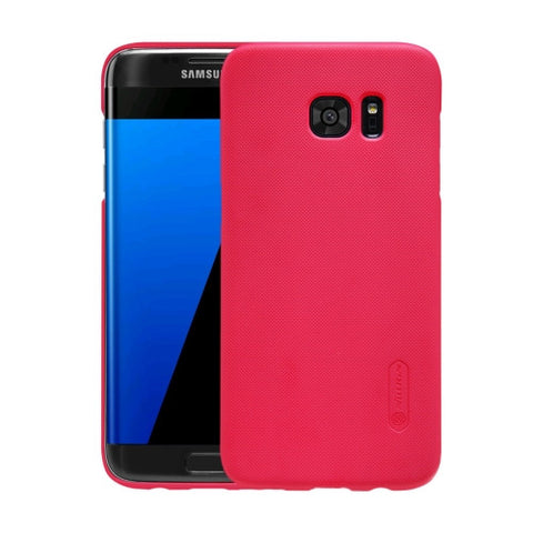 NILLKIN Frosted Shield for Samsung Galaxy S7 Edge / G935 Concave-convex Texture PC Protective Case Back Cover(Red)