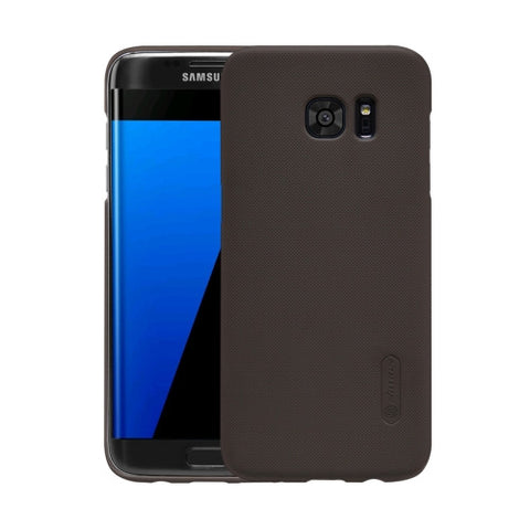 NILLKIN Frosted Shield for Samsung Galaxy S7 Edge / G935 Concave-convex Texture PC Protective Case Back Cover(Brown)
