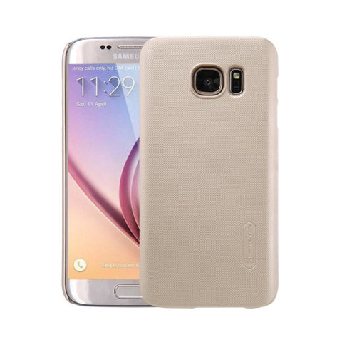 NILLKIN Frosted Shield for Samsung Galaxy S7 / G930 Concave-convex Texture PC Protective Case Back Cover(Gold)