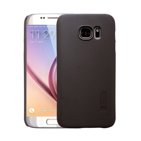 NILLKIN Frosted Shield for Samsung Galaxy S7 / G930 Concave-convex Texture PC Protective Case Back Cover(Brown)