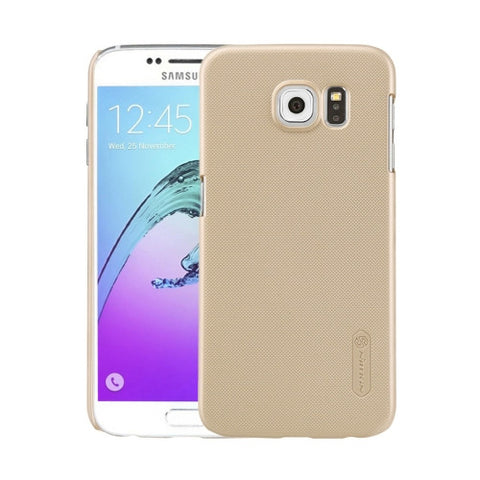 NILLKIN Frosted Shield for Samsung Galaxy S6 / G920 Concave-convex Texture PC Protective Case Back Cover(Gold)