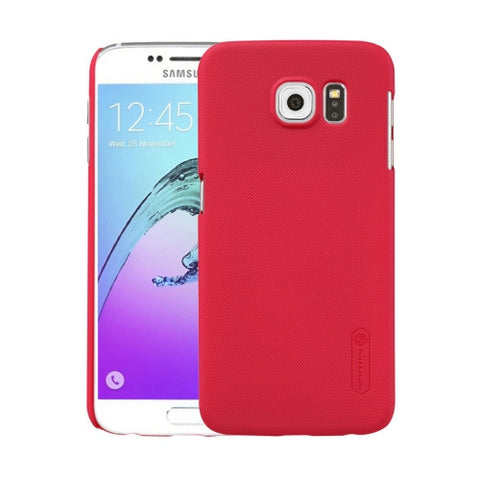 NILLKIN Frosted Shield for Samsung Galaxy S6 / G920 Concave-convex Texture PC Protective Case Back Cover(Red)