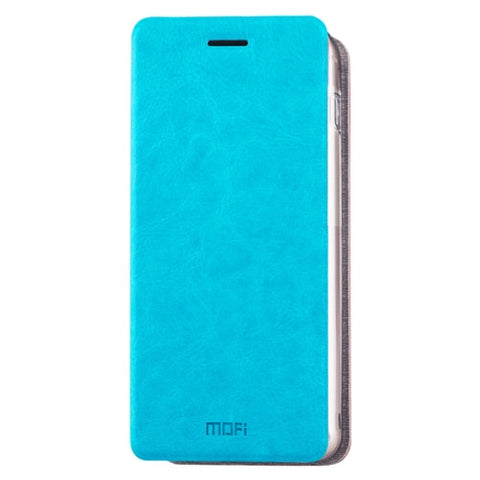 MOFI for Samsung Galaxy A8(2016) / A810 Crazy Horse Texture Horizontal Flip Leather Case with Holder(Blue)