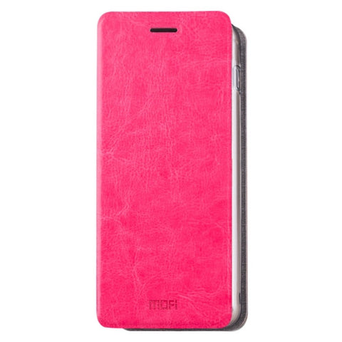 MOFI for Samsung Galaxy A8(2016) / A810 Crazy Horse Texture Horizontal Flip Leather Case with Holder(Magenta)