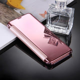 For Samsung Galaxy S8 / G9500 Electroplating Mirror Horizontal Flip Leather Case with Sleep / Wake-up Function(Pink)