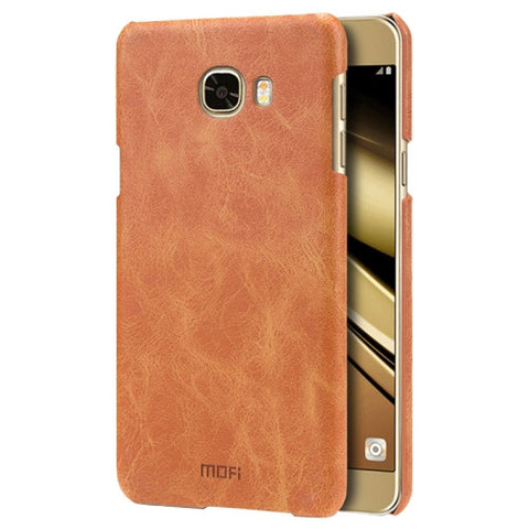 MOFI for Samsung Galaxy C7 / C700 Crazy Horse Texture Leather Surface PC Protective Case Back Cover(Brown)