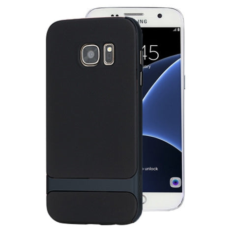 Rock Royce Series for Samsung Galaxy Note 5 / N920 Business Style TPU + PC Protective Case(Navy Blue)