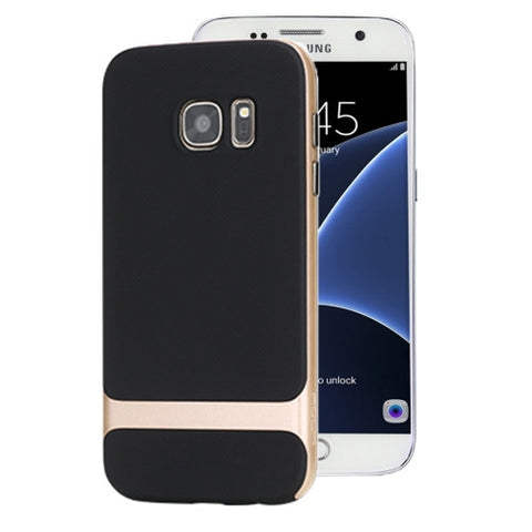 Rock Royce Series for Samsung Galaxy S7 / G930 Business Style TPU + PC Protective Case(Champagne Gold)