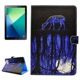 For Samsung Galaxy Tab A 10.1 (2016) / P580 Water Reflection Pattern Horizontal Flip Leather Case with Holder & Card Slots & Wallet
