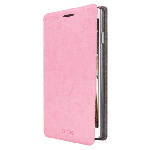 MOFI for Samsung Galaxy On7 / G600 Crazy Horse Texture Horizontal Flip Leather Case with Holder(Pink)