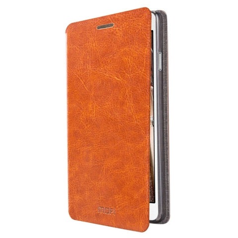 MOFI for Samsung Galaxy On7 / G600 Crazy Horse Texture Horizontal Flip Leather Case with Holder(Brown)