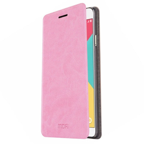 MOFI For Samsung Galaxy A9 / A900 Crazy Horse Texture Horizontal Flip Leather Case with Holder(Pink)
