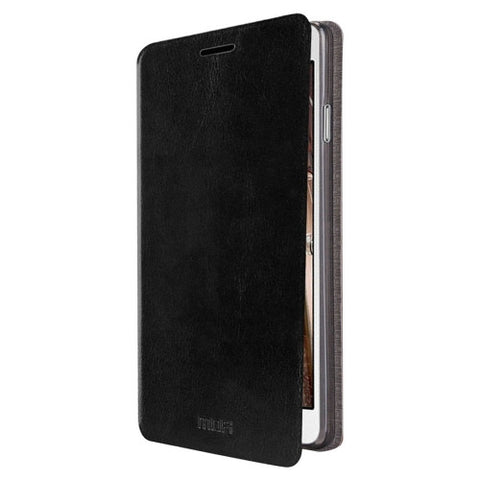 MOFI for Samsung Galaxy On5 / G550 Crazy Horse Texture Horizontal Flip Leather Case with Holder(Black)