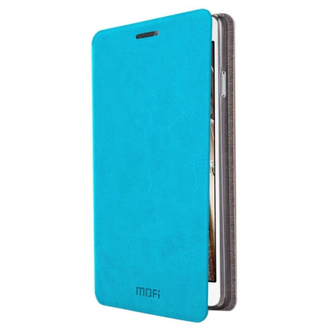 MOFI for Samsung Galaxy On5 / G550 Crazy Horse Texture Horizontal Flip Leather Case with Holder(Blue)