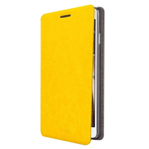MOFI for Samsung Galaxy On5 / G550 Crazy Horse Texture Horizontal Flip Leather Case with Holder(Yellow)