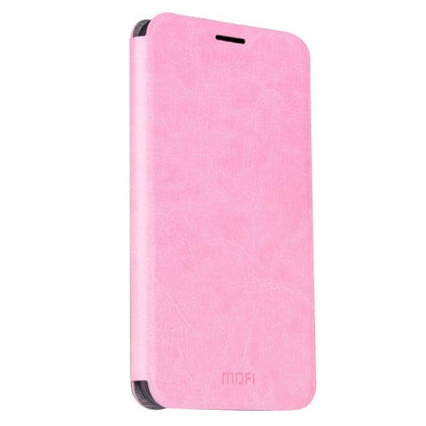 MOFI For Samsung Galaxy J7 (2016) / J710 Crazy Horse Texture Horizontal Flip Leather Case with Holder(Pink)