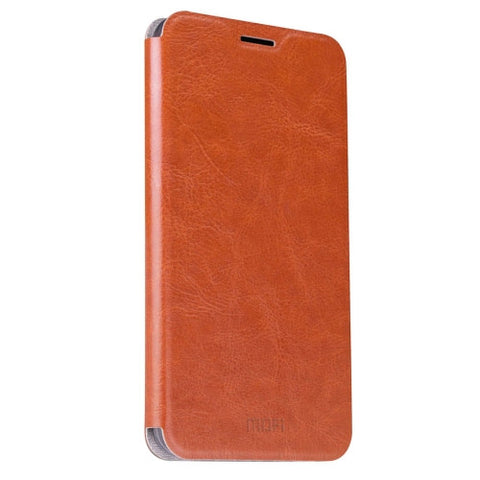 MOFI For Samsung Galaxy J7 (2016) / J710 Crazy Horse Texture Horizontal Flip Leather Case with Holder(Brown)