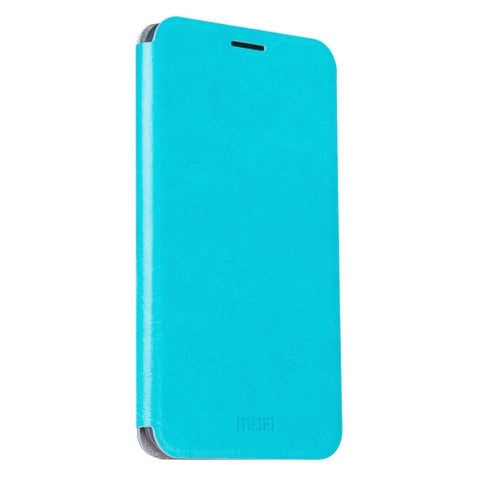 MOFI For Samsung Galaxy J5 (2016) / J510 Crazy Horse Texture Horizontal Flip Leather Case with Holder(Blue)