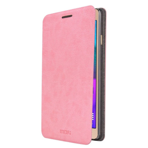 MOFI For Samsung Galaxy A5 (2016) / A510 Crazy Horse Texture Horizontal Flip Leather Case with Holder(Pink)