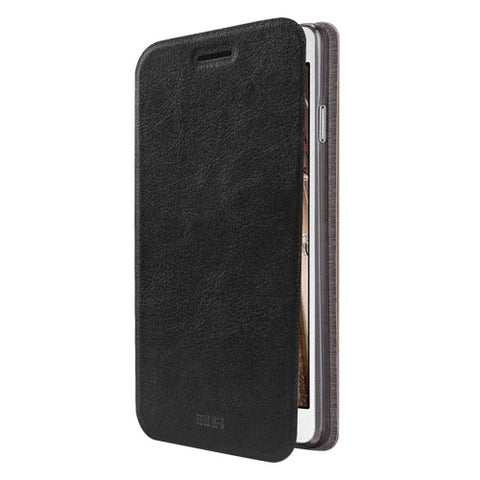 MOFI For Samsung Galaxy J3(2016) / J310 Crazy Horse Texture Horizontal Flip Leather Case with Holder(Black)