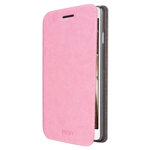 MOFI For Samsung Galaxy J3(2016) / J310 Crazy Horse Texture Horizontal Flip Leather Case with Holder(Pink)