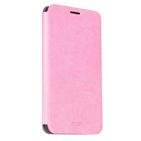 MOFI For Samsung Galaxy J3 Pro / J311 Crazy Horse Texture Horizontal Flip Leather Case with Holder(Pink)