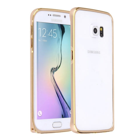 LOVE MEI for Samsung Galaxy S6 Edge / G925  Hippocampal Buckle Metal Aluminum Bumper Frame(Gold)