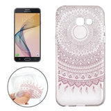 For Samsung Galaxy J5 (2017) / J5 Prime Pink Flower Buds Pattern Soft TPU Protective Back Cover Case