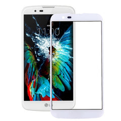 iPartsBuy for LG K10 Front Screen Outer Glass Lens(White)