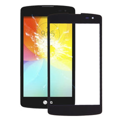 iPartsBuy for LG L Fino / D290 / D295 & F60 / D390 / D395 Front Screen Outer Glass Lens(Black)