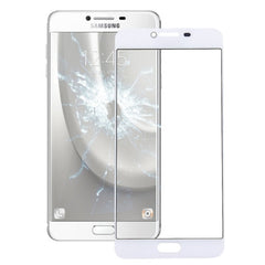 iPartsBuy for Samsung Galaxy C7 Front Screen Outer Glass Lens(White)