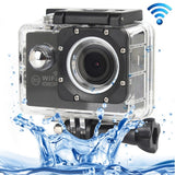 H16 1080P Portable WiFi Waterproof Sport Camera 2.0 inch Screen  170 A+ Degrees Wide Angle Lens Support TF Card (Black)