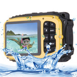 DC-188 2.7 inch LCD 5.0MP FF DSC 8X Digital Zoom Camera Freezproof 1m Shockproof 10m Waterproof WiFi Action DV(Yellow)