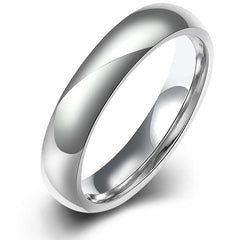 Titanium steel plain engagement style ring band - US 8