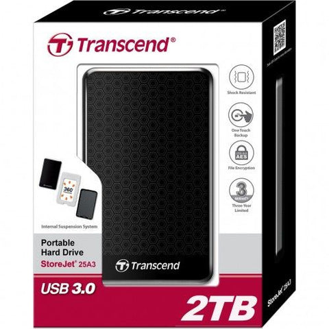 Transcend StoreJet 25A3 Series - 2.0TB 2.5 inch