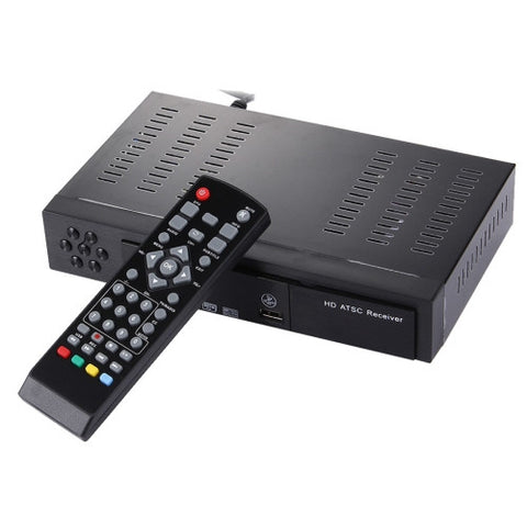 ATSC Digital Broadcast 1080P HD Receiver Smart TV BOX with Remote Controller for Mexico / USA / Canada(Black)