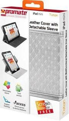 Promate Totan -Leather Cover with Multifunctional Detachable Inner Sleeve for iPad mini