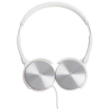 Headphone With Mic White And Silver