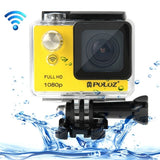 PULUZ U6000 Full HD 1080P 2.0 inch LCD Screen WiFi Waterproof Multi-function Sport Action Camcorder Novatek NT96650 Chipset 175-degree Wide-angle Lens(Yellow)