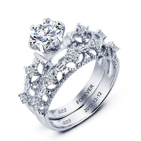 Personalized Spectacular 1.50ct Solitaire & Band with Intricate Detailing
