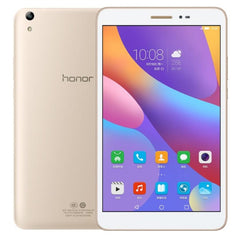 Huawei Honor Tablet 2 16GB Network: 4G 8.0 inch EMUI4.0 (Android 6.0) Qualcomm Snapdragon 616 Octa Core 4x1.5GHz + 4x1.2GHz Model: JDN-AL00 RAM: 3GB WiFi OTG BT GPS(Gold)