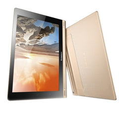 Lenovo YOGA Tablet 10 HD+ Tablet PC 16GB With Foldable Holder 10.1 inch Android 4.3 MSM8268 Quad Core up to 1.6GHz RAM: 2GB BT WiFi(Gold)